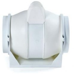 White Plastic In Line Duct Fans