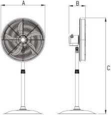 stand fan 44